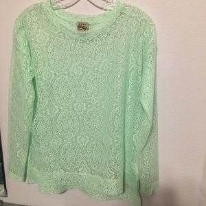 Como Vintage Lace Over Shirt S beautiful!